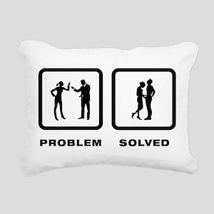 Manhood Check Rectangular Canvas Pillow