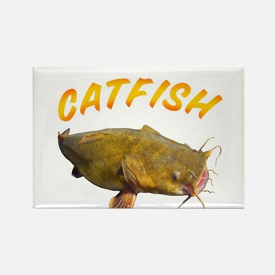 Catfish side Rectangle Magnet