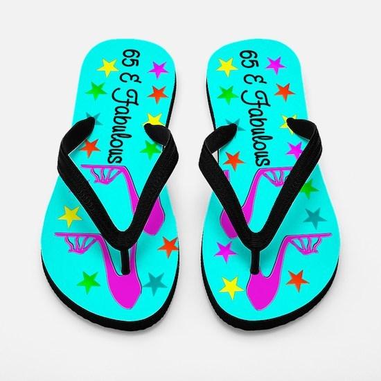 GLITZY 65TH Flip Flops