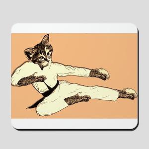 Karate Cat Mousepad