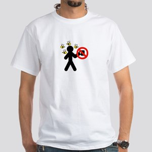 No Coffee Covered In Bees White T-Shirt