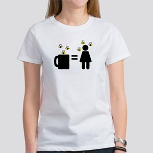 Coffee Woman Covered In Bees Women's T-Shirt
