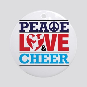 Peace Love and Cheer Ornament (Round)