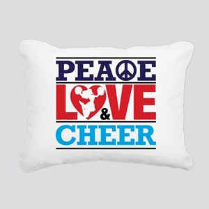 Peace Love and Cheer Rectangular Canvas Pillow