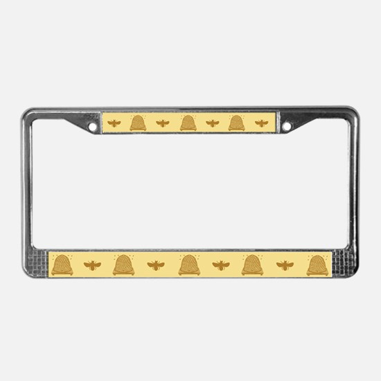 Bee Hive License Plate Frame