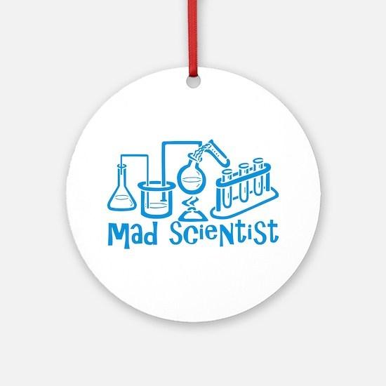 Mad Scientist Ornament (Round)