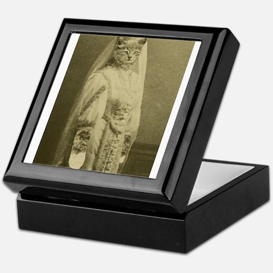wedding cat Keepsake Box