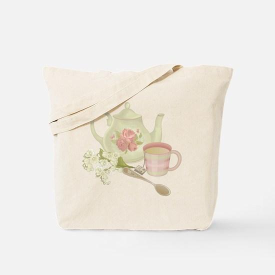 Vintage Old English Teapot Tote Bag