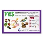 Yes / No Food Scraps (with protein) Sticker