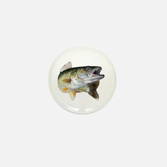 walleye turn Mini Button (10 pack)