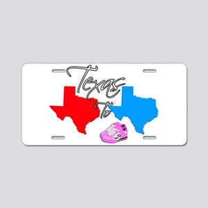 Turning Texas Red to Blue Aluminum License Plate