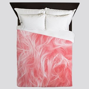 Pink Fake Fur Pattern Queen Duvet