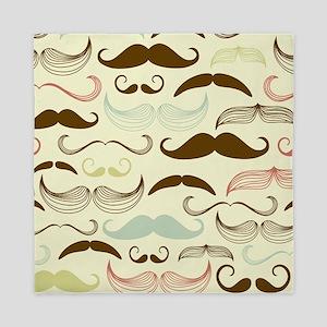 Mustache Pattern Queen Duvet