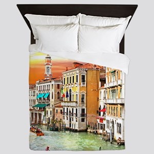 Venice Photo Queen Duvet