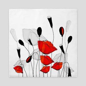 Beautiful Red Poppies Queen Duvet