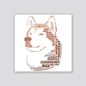 Malamute Words Sticker