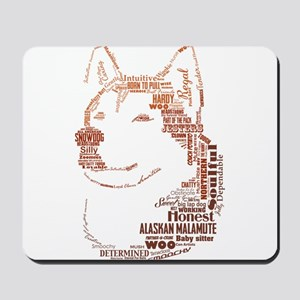 Malamute Words Mousepad