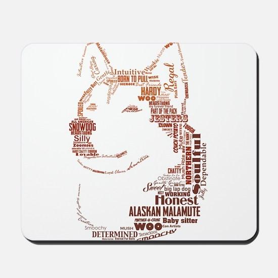 Malamute Words Mousepad