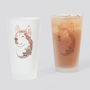 Malamute Words Drinking Glass
