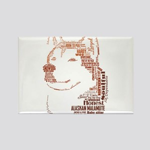 Malamute Words Rectangle Magnet