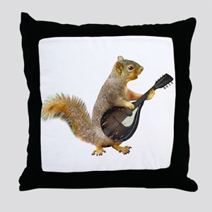 Squirrel Mandolin Throw Pillow