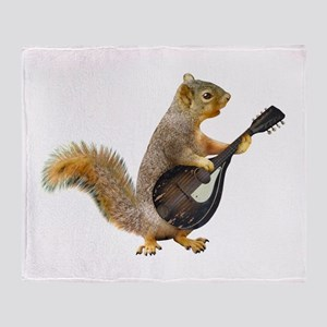 Squirrel Mandolin Throw Blanket