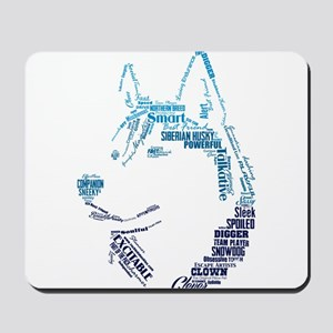 Husky Words Mousepad