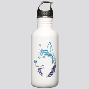Husky Words Water Bottle