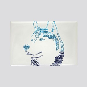 Husky Words Rectangle Magnet