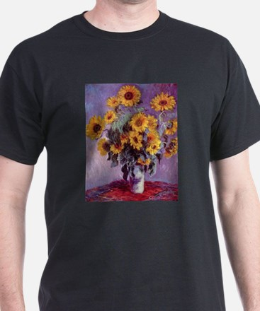 Claude Monet Bouquet of Sunflowers T-Shirt