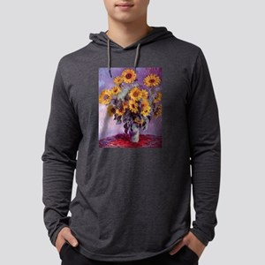 Claude Monet Bouquet of Sunflowers Mens Hooded Shi