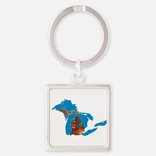 Great Lakes Michigan Harvest Keychains