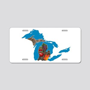 Great Lakes Michigan Harvest Aluminum License Plat