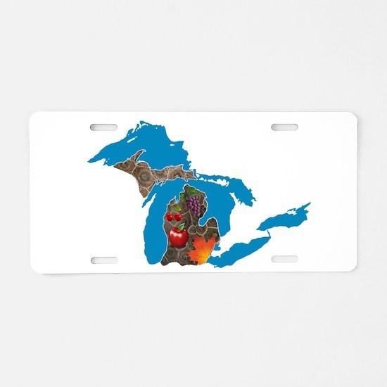 Great Lakes Michigan Harvest Aluminum License Plat