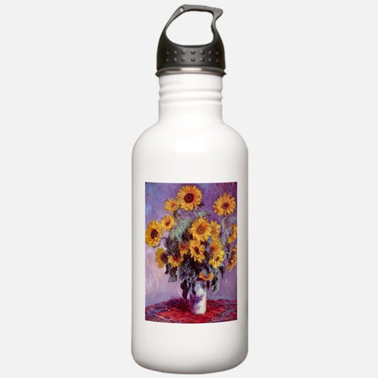 Claude Monet Bouquet of Sunflowers Water Bottle