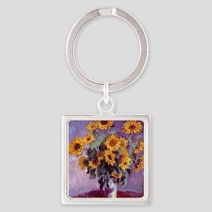 Claude Monet Bouquet of Sunflowers Keychains