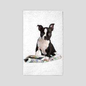 Boston Terrier 3'x5' Area Rug