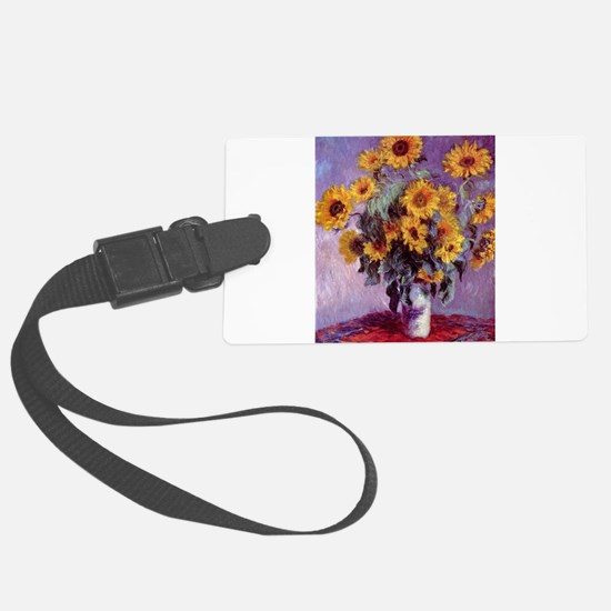 Claude Monet Bouquet of Sunflowers Luggage Tag