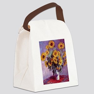 Claude Monet Bouquet of Sunflowers Canvas Lunch Ba