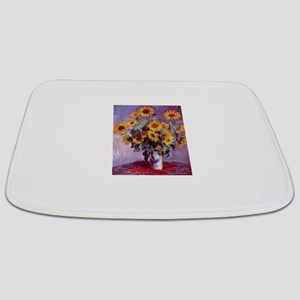 Claude Monet Bouquet of Sunflowers Bathmat