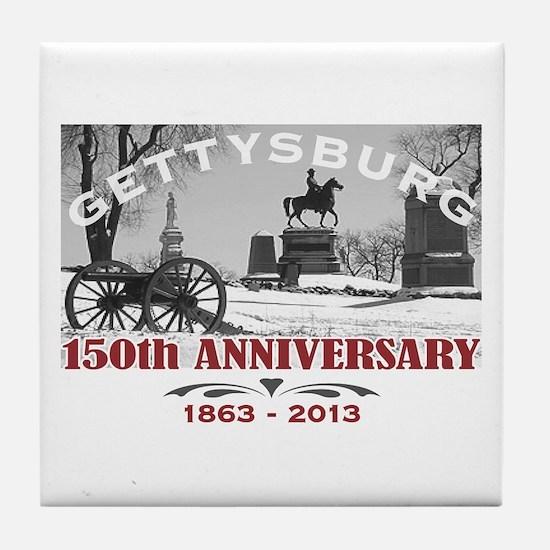 Civil War Gettysburg 150 Anniversary Tile Coaster