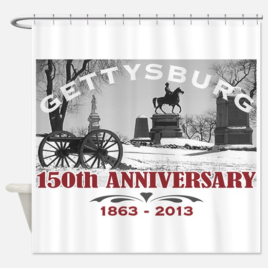Civil War Gettysburg 150 Anniversary Shower Curtai