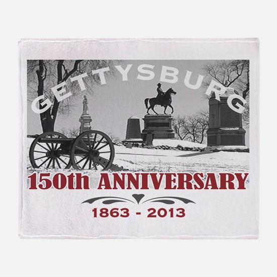 Civil War Gettysburg 150 Anniversary Throw Blanket