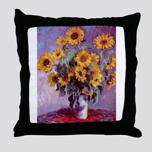 Claude Monet Bouquet of Sunflowers Throw Pillow
