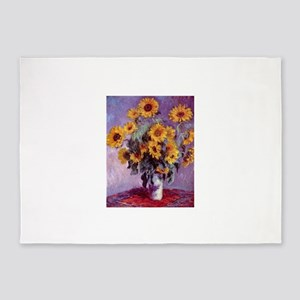 Claude Monet Bouquet of Sunflowers 5'x7'Area Rug