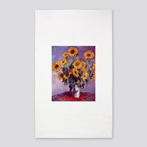 Claude Monet Bouquet of Sunflowers Area Rug