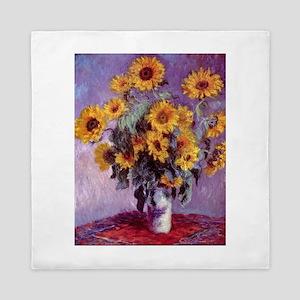 Claude Monet Bouquet of Sunflowers Queen Duvet