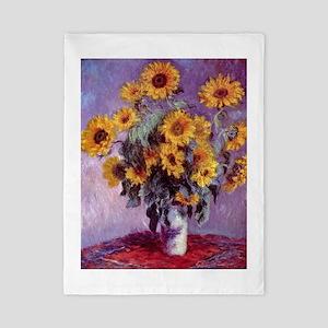 Claude Monet Bouquet of Sunflowers Twin Duvet Cove
