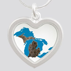 Great lakes Michigan petoskey stone Necklaces