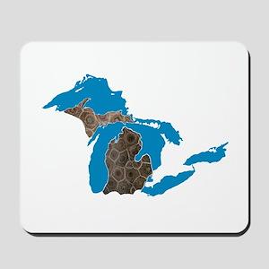 Great lakes Michigan petoskey stone Mousepad